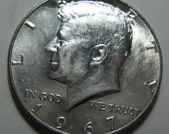 1967 silver Kennedy half dollar coin (#E113T)