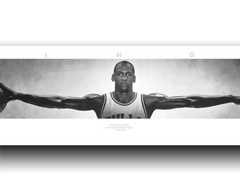 Michael Jordan Wings MJ XXXL Long Art Wall Silk Cloth Poster 45cm Top quality guarantee