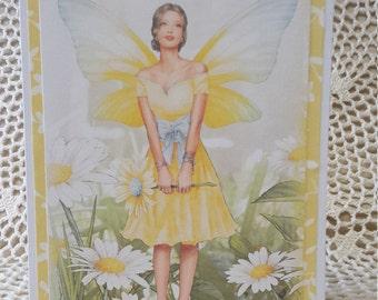Feminine Birthday Card, Mother's Day Card, Fairy Greeting Card