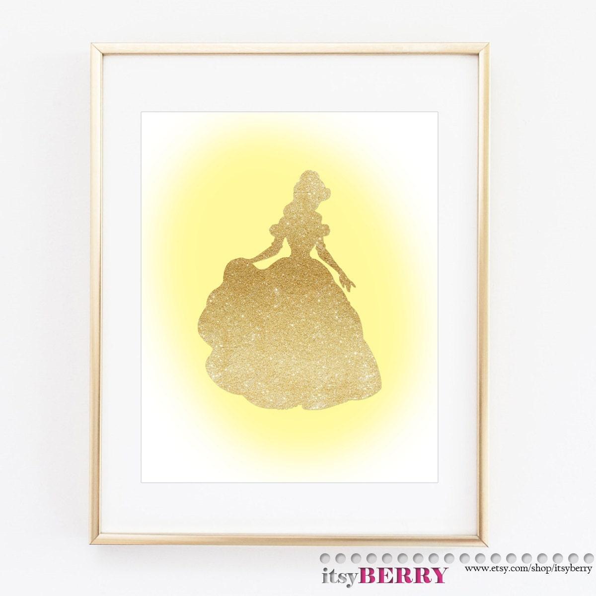 Disney Princess Wall Art Cinderella Belle Rapunzel Ariel