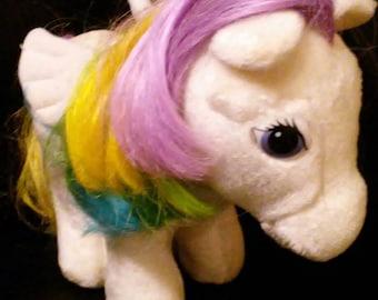 Vintage 1980s Hasbro My Little Pony STARSHINE Plush Pegasus Pony!!!! Like NEW Condition!!!