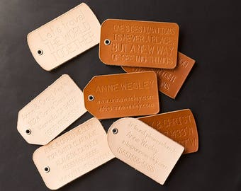 Leather Luggage Tags Personalized Gifts for Travel Long Distance Relationship Long Distance Boyfriend Gift Custom Best Selling Items