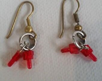 LED Earrings - Found Object Earrings