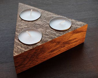 Personalized Candle Holders,Geometric Wood Tea Light Holder,Candle Holders,Taper Candle Holders, Wooden Candle Holders