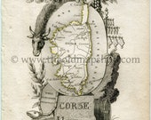 1823 Perrot Map of CORSE,...