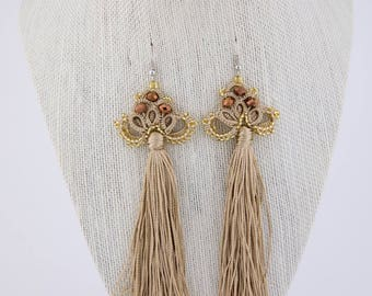 Gold  crocheted earrings