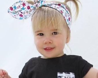 Cotton Knotted Headband, baby headband, mommy and me headband, knot baby headband, top knot headband, adjustable baby headband