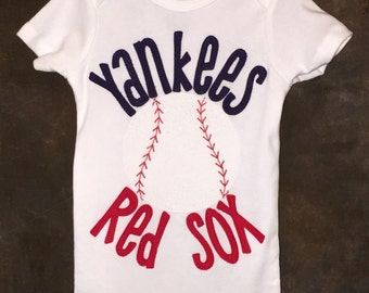 Personalized House Divided Baseball Teams Bodysuit. Any teams you want!