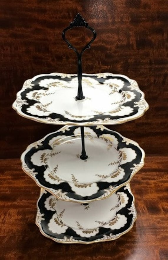 3 tier server with Bavarian china plates