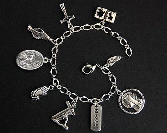 Saint Margaret Bracelet. Catholic Bracelet. St Margaret Charm Bracelet. Patron Saint Bracelet. Catholic Jewelry. Religious Bracelet.