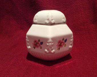 Biltons Camelot Bone China Hexagon Lidden Jar
