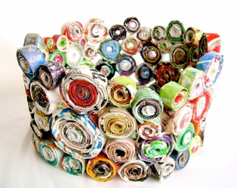 Sturdy Coiled Paper Basket