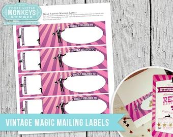 Vintage Magic Mailing Labels - INSTANT DOWNLOAD