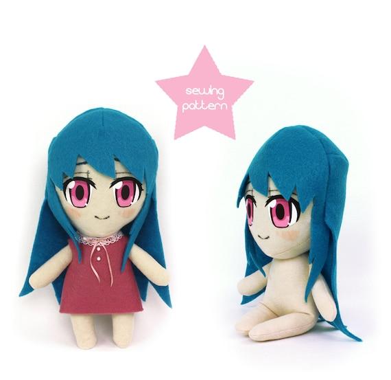 PDF sewing pattern - Chibi anime girl - poseable human fanart ...