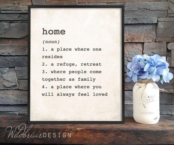 Printable wall art home dictionary definition wedding stopboris Image collections