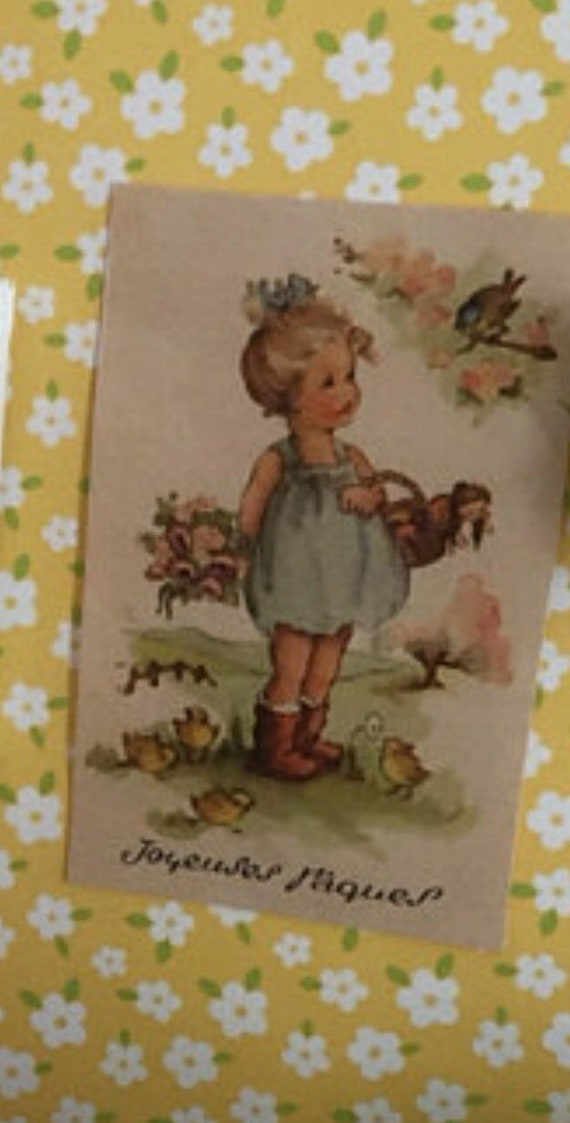 Miniature Spring Girl by Cherry Tree branch  Picture