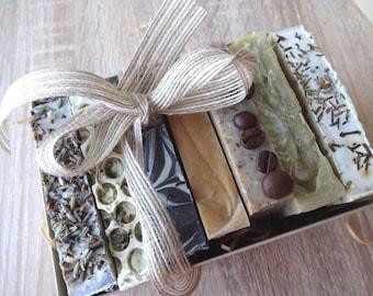 Soap Gift Set, Natural Handmade Soaps, 7 piece, Hamper box,  giftset, Present for her, Soap Bundle, Each 100g, Natural Skincare, Spa Gift