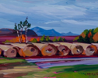 Maine Landscape Painting Katahdin 17
