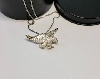 Charm 925 Silver bird of prey Eagle bird SK1043