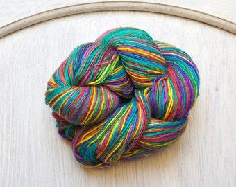 Silk Thread in Over the Rainbow Light Weight Rainbow Colors