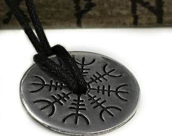 Helm of Awe Necklace - Viking Jewelry - Helm of Awe - Viking Protection - Aegishjalmur - Viking Jewelry - Norse Pendant - Pagan - Asatru