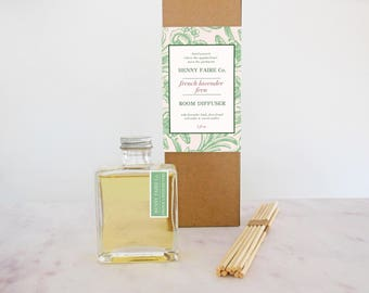 mothers day gift | spa gift for mom | gift for gardening mom | french lavender fern reed diffuser | fresh, clean home fragrance | 5 oz