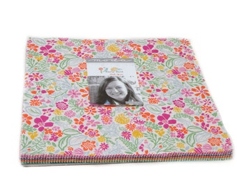 """Early Bird Layer Cake by Kate Spain for Moda, 42 - 10"""" squares"""