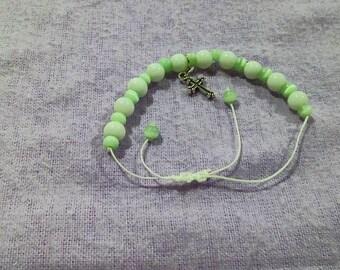 Mint Cross Bracelet