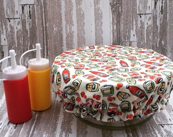 cover Bowl, eco-friendly, cover plate, ketchup, mustard