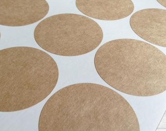 "2"" Circle Labels, Brown Kraft Stickers, Brown Kraft Labels, Self-Adhesive Label, Blank Labels, Blank Stickers, for Inkjet & Laser Printer"
