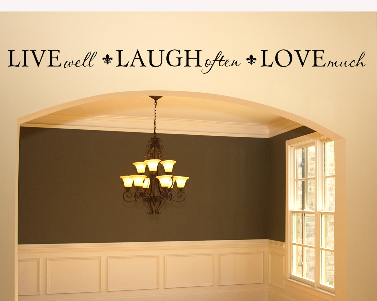 Wall Decal Living Room Wall Decor Live Well Laugh