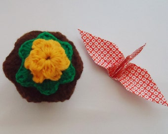 Handmade Choc Cupcake Trinket box. KAwaii