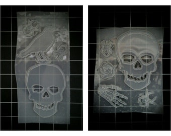 Large Skulls Raven Crow Rose Spiders Bones Halloween Resin Molds