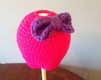Toddler bun hat with bow