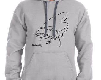 Baby Grand Piano Hooded Sweatshirt