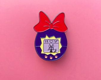 Preorder Kiki's Delivery Service Pins - Tamagotchi - Jiji Pins - Kawaii - Studio Ghibli Pins - Soft Enamel - Glow in the dark - 1.5'' - Cute