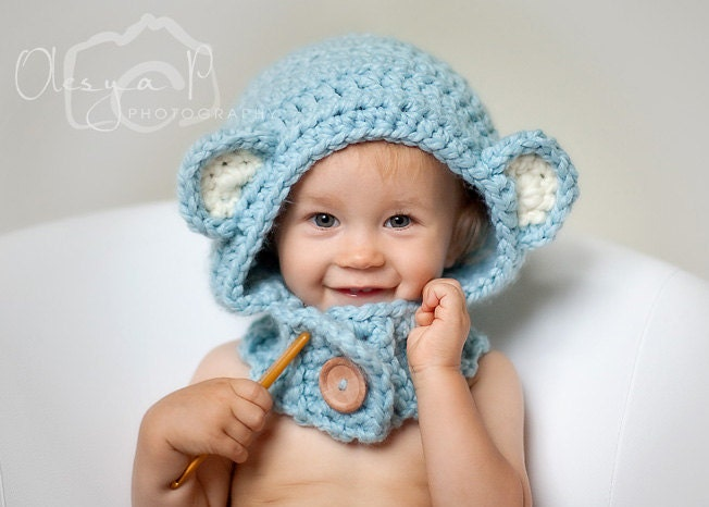 Download Pdf Crochet Pattern S020 Bear Hood Cowl One Size Toddlerchild