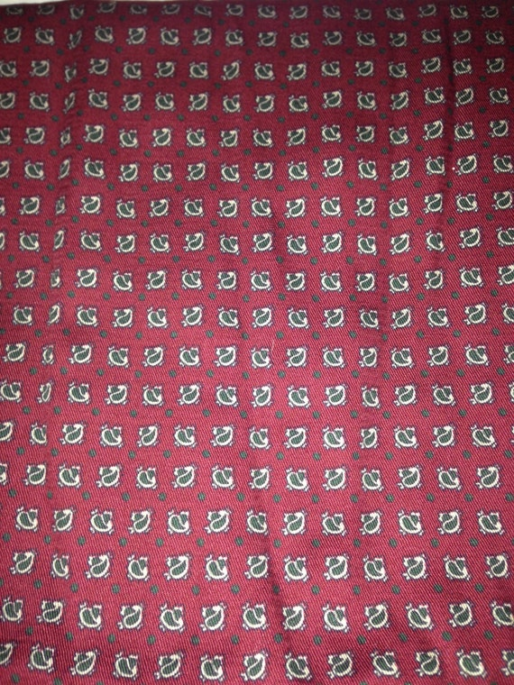 Red Paisley Cotton Fabric F4