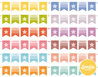 Bunting Banner Clipart Illustration for Commercial Use | 0521