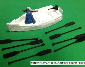 Boat Oars (set of 8)  28mm