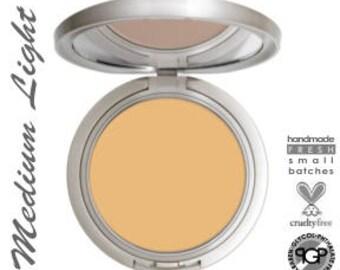 Organic Foundation Erzulie® Perfect Match™ Cream To Powder Mineral Makeup Foundation in MEDIUM LIGHT  All Natural Gluten Free Makeup