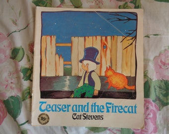 VERY RARE Vintage 1972 Teaser and the Firecat by Cat Stevens Scholastic SC Book