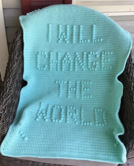 I Will Change The World Crochet Baby Blanket Pattern - Baby Blanket Pattern - Blanket Pattern