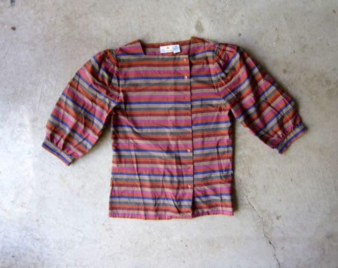 80s Puff Sleeve Blouse