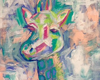 Giraffe - Print of Original Painting