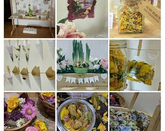 PERSONALISED Individual Portions of Conetti, Real Petal Wedding Confetti, Natural Confetti, Organic Confetti, Biodegradable Confetti Scented