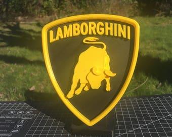 Lamborgini desk ornament - 3D printed paperweight - with stand - Custom!