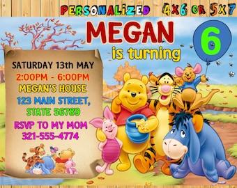 Tigger invitations etsy winnie the pooh birthday invitation printable winnie the pooh birthday party disney winnie filmwisefo Gallery