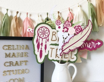 Boho Photo Booth Props | Tribal Photo Booth Props | Boho Bridal Shower Party Decor | Tribal party Decor | Boho Baby Shower | Boho Party
