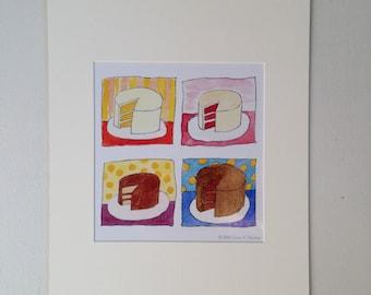Cake Matted Print